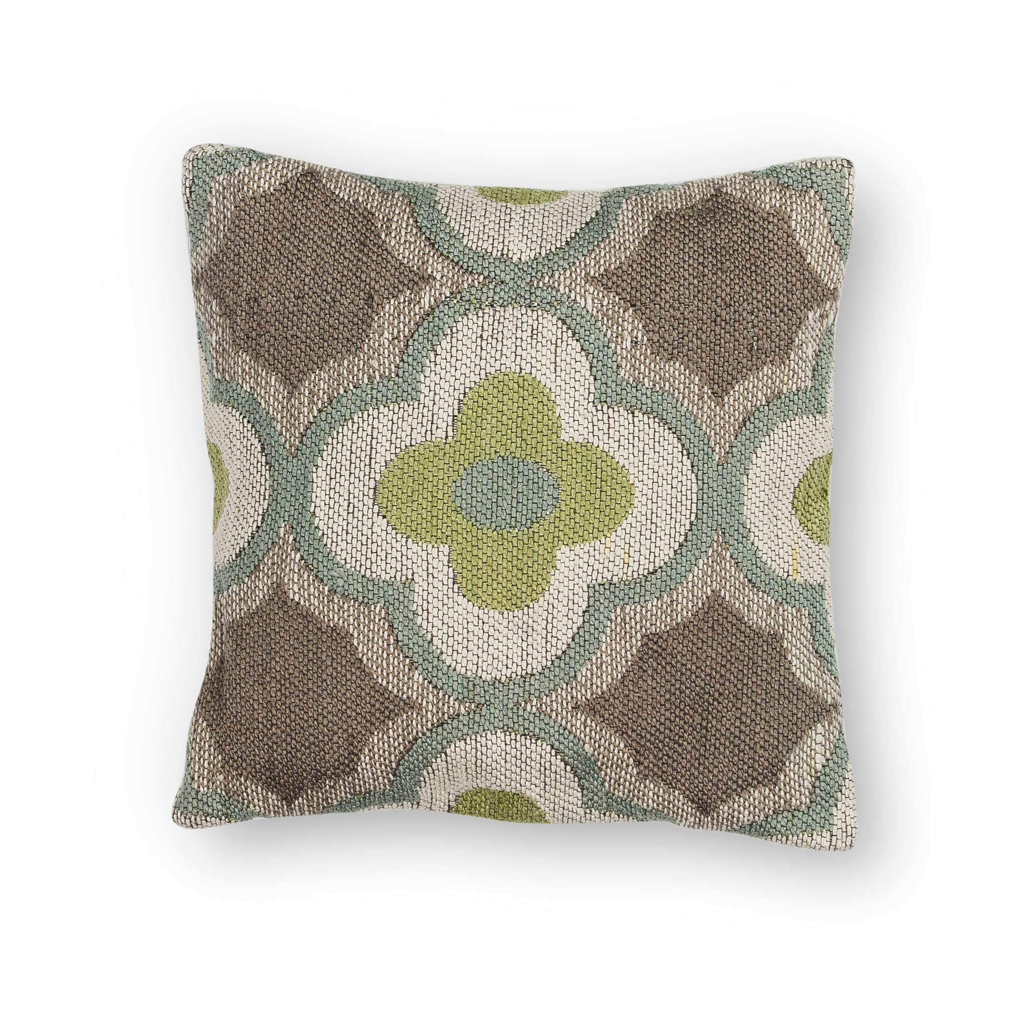 L230 Taupe/Sage Filigree Pillow
