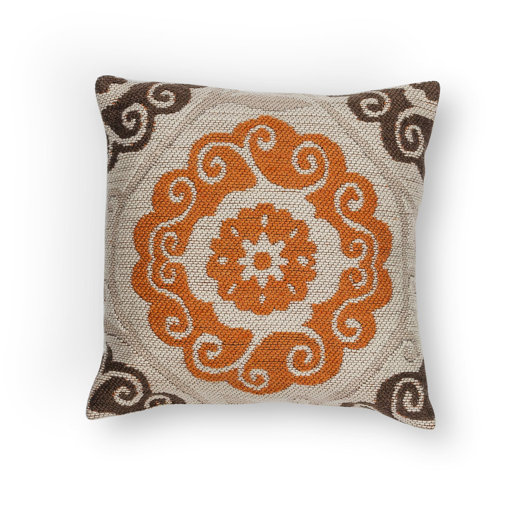 L231 Ivory/Brown Laurel Pillow