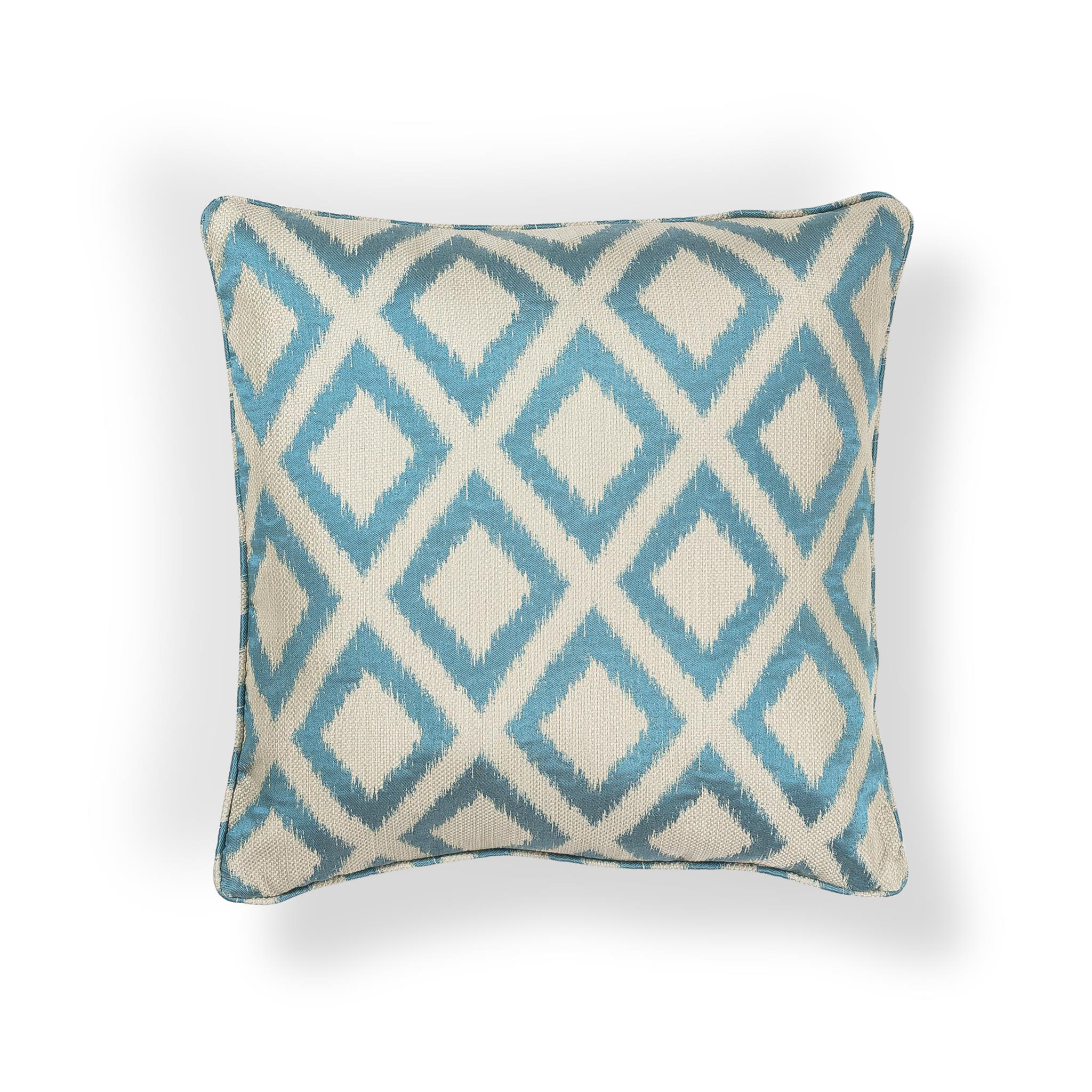 L242 Turquoise Diamonds Pillow