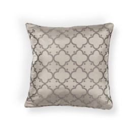 L250 Taupe Filigree Pillow