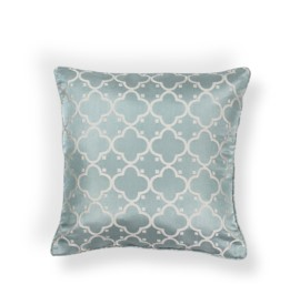L251 Lt.Blue Filigree Pillow