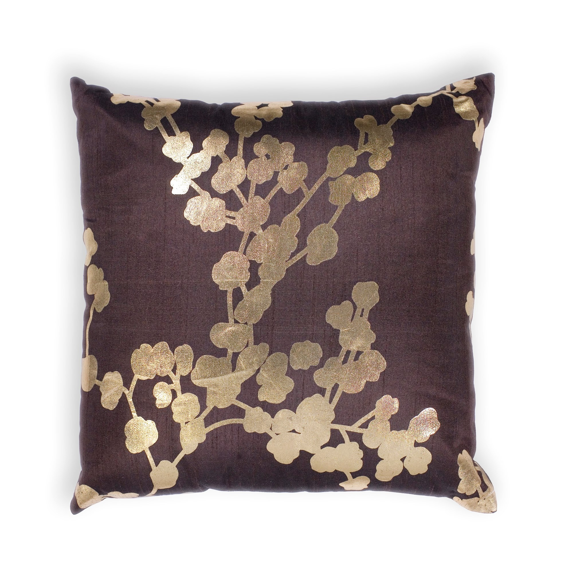 L296 Chocolate Flora Pillow
