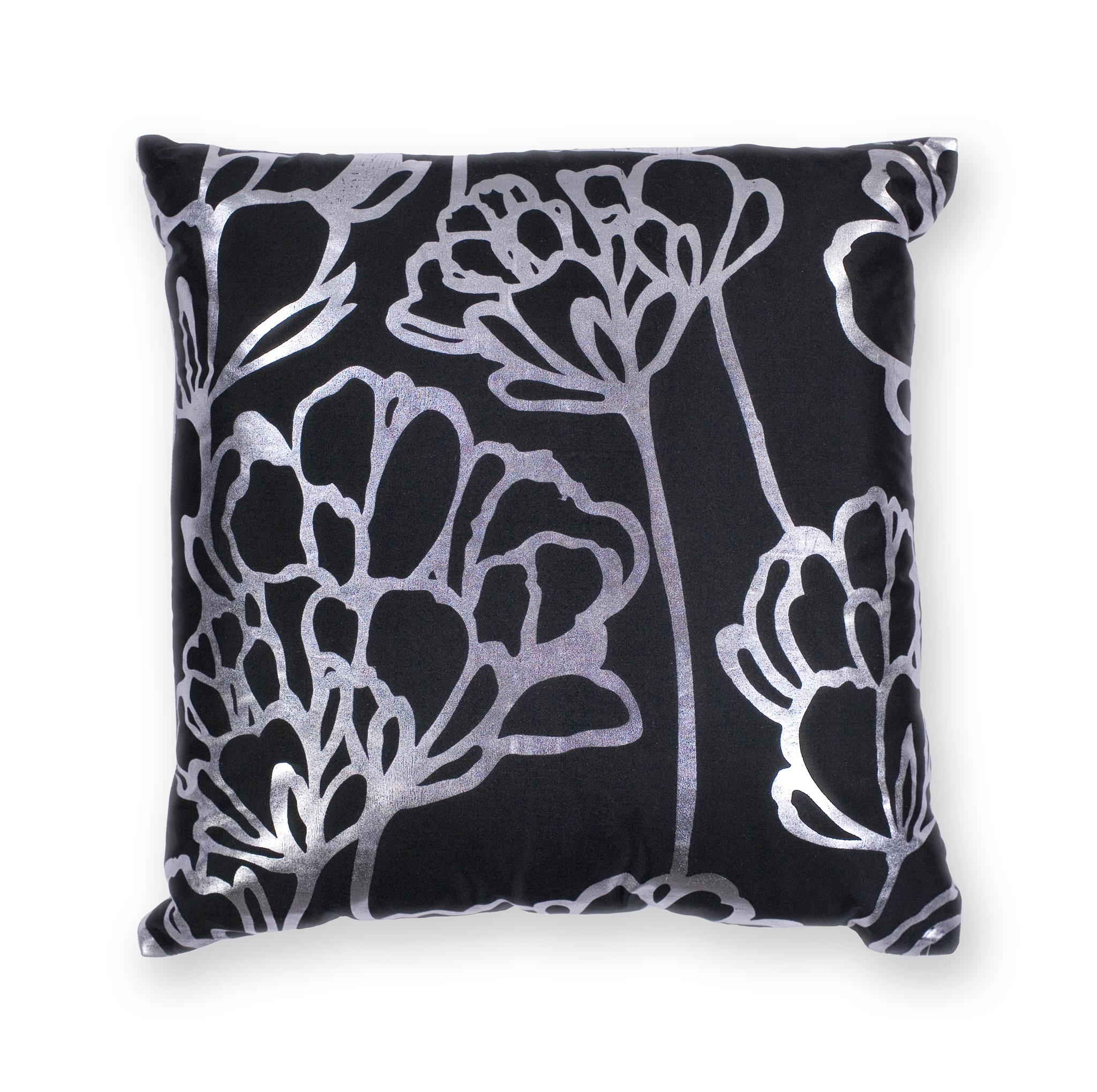 L299 Black Blossom Pillow