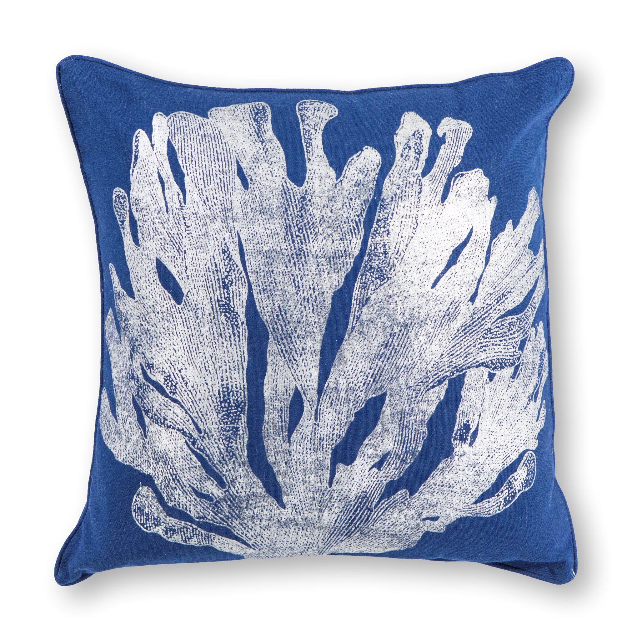 L301 Blue/Silver Coral Pillow