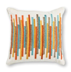 L306 Teal/Gold Stripes Pillow