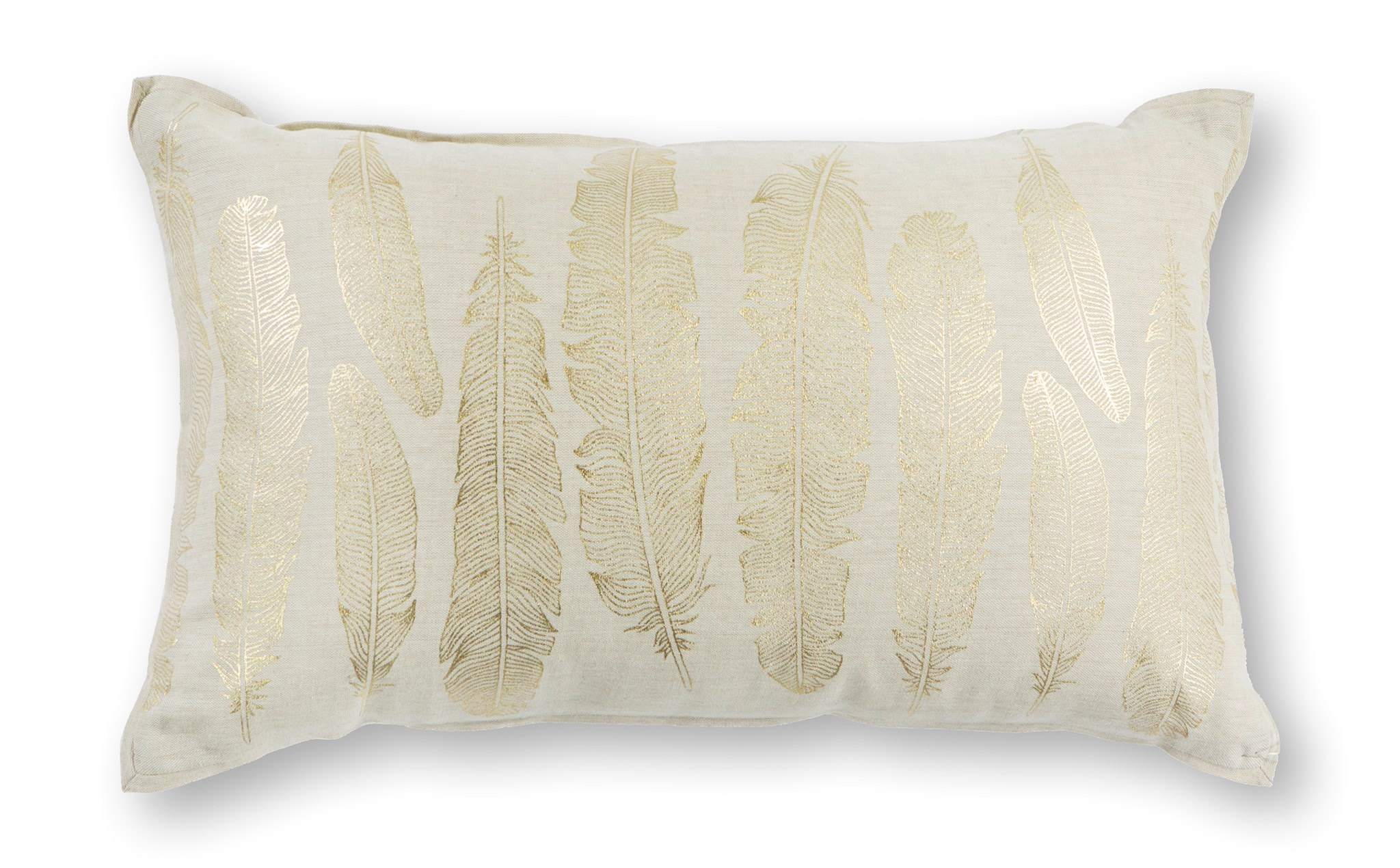 L315 Gold Feathers Pillow