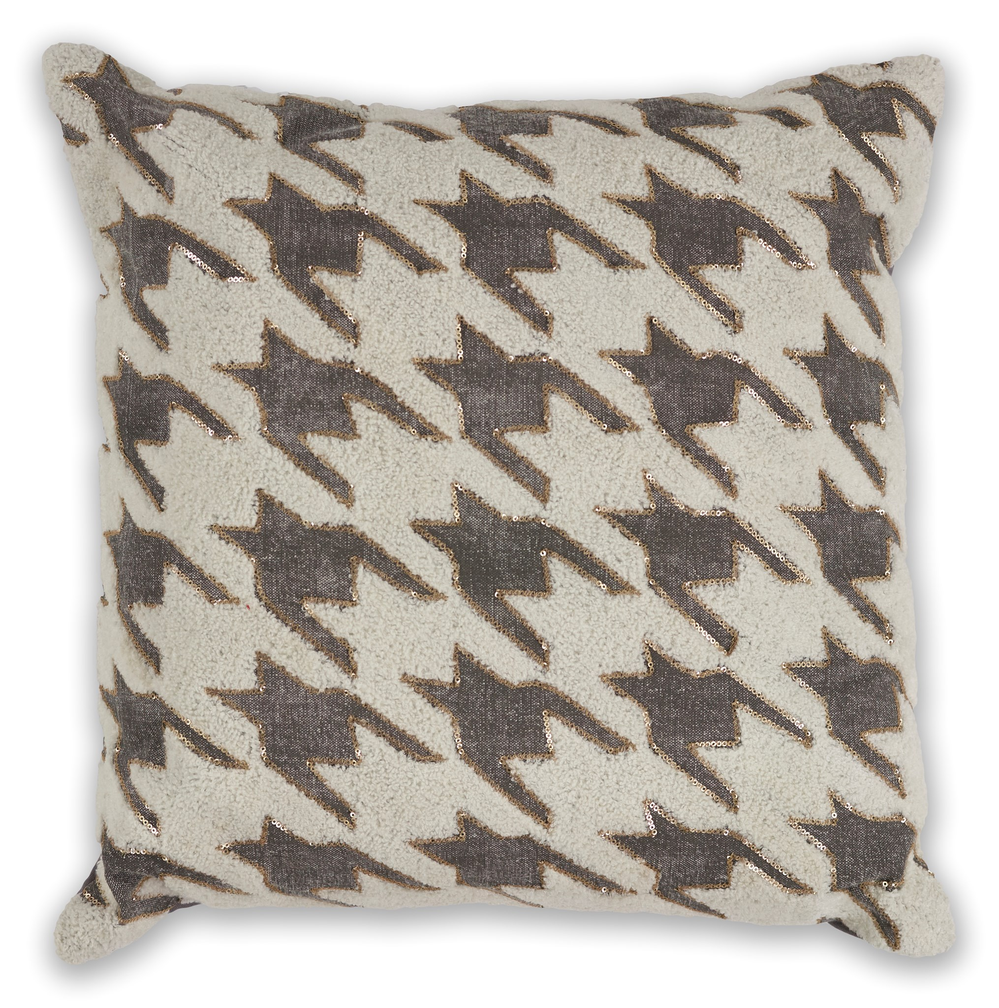 L323 Ivory/Grey Houndstooth