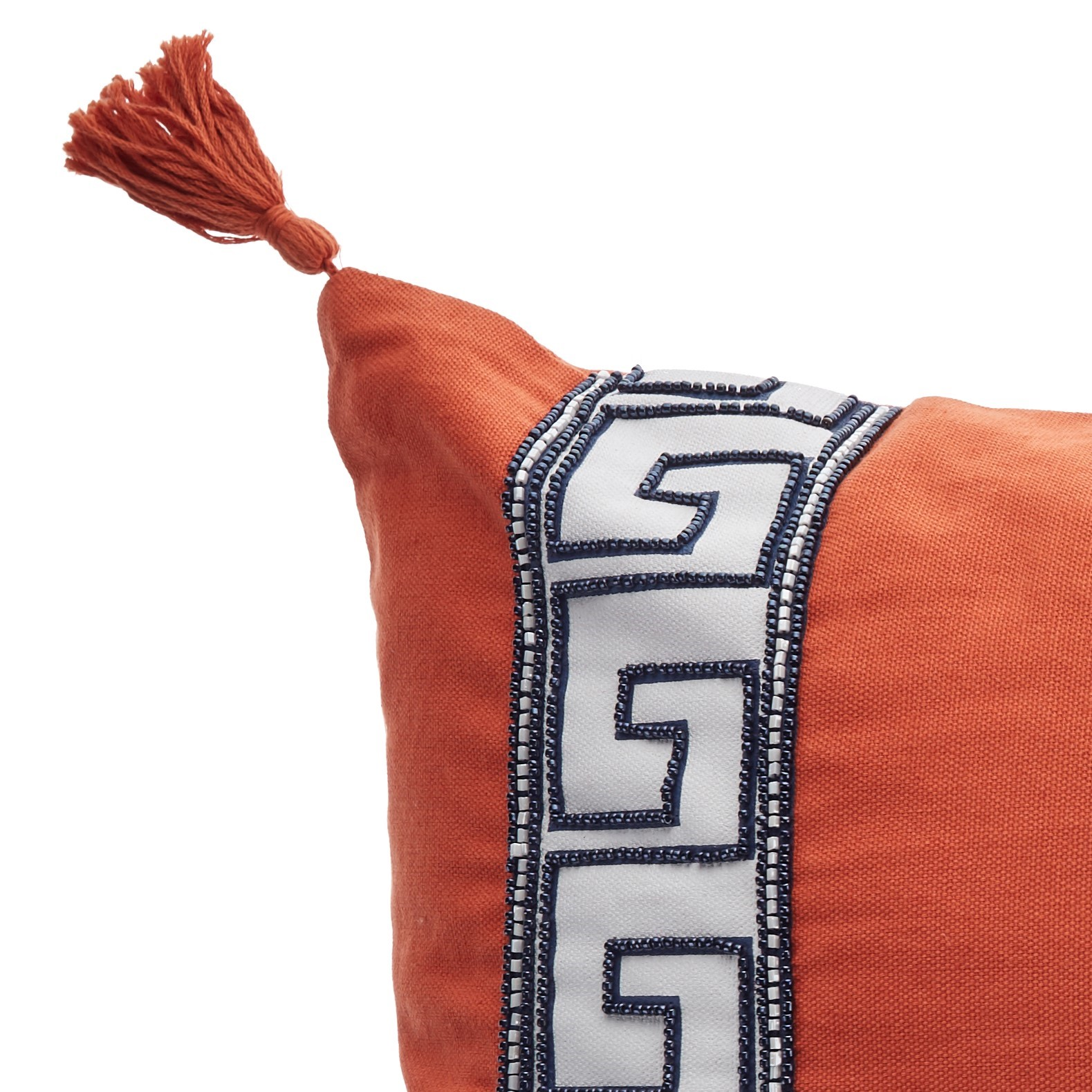 Libby Langdon L433 Tangerine Greek Key