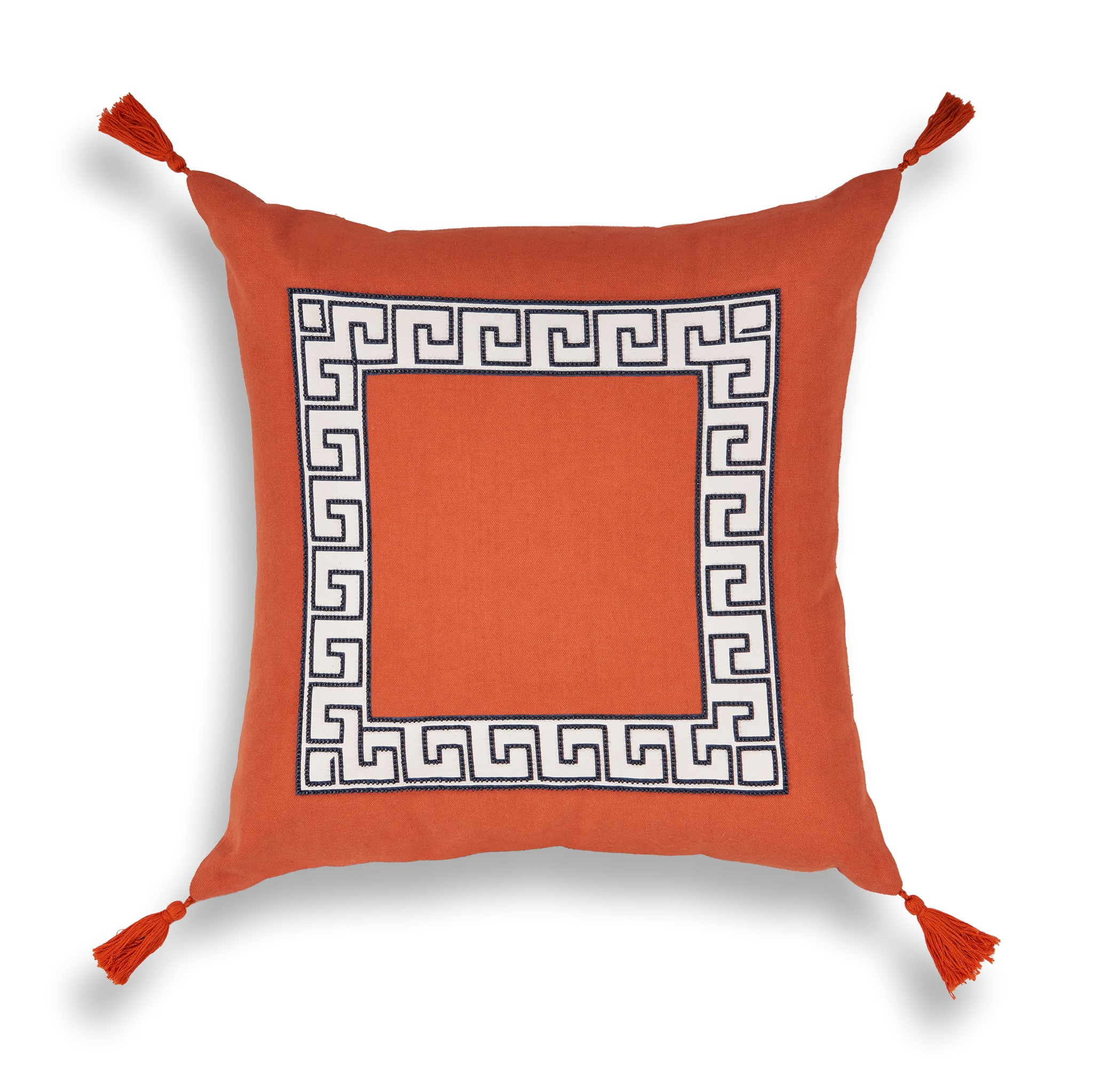 L433 Tangerine Greek Key