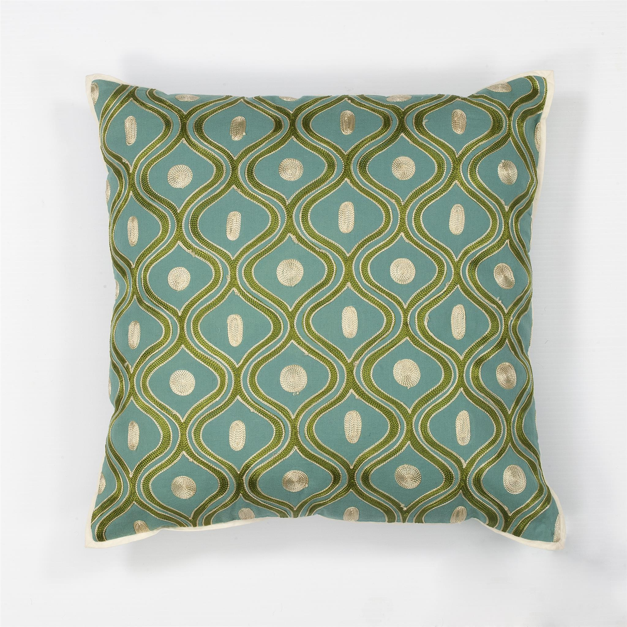 L106 Teal/Gold Gramercy Pillow
