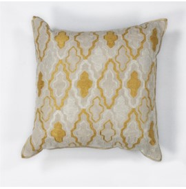 L132 Ivory/Yellow Groove Pillow