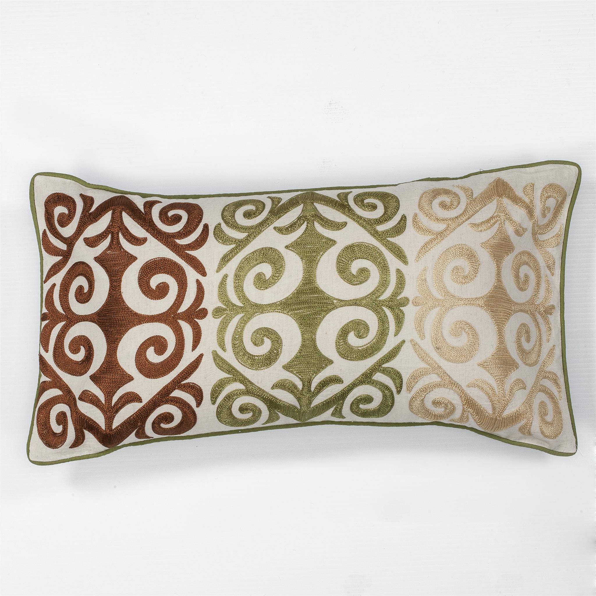 L171 Multicolor Damask Pillow