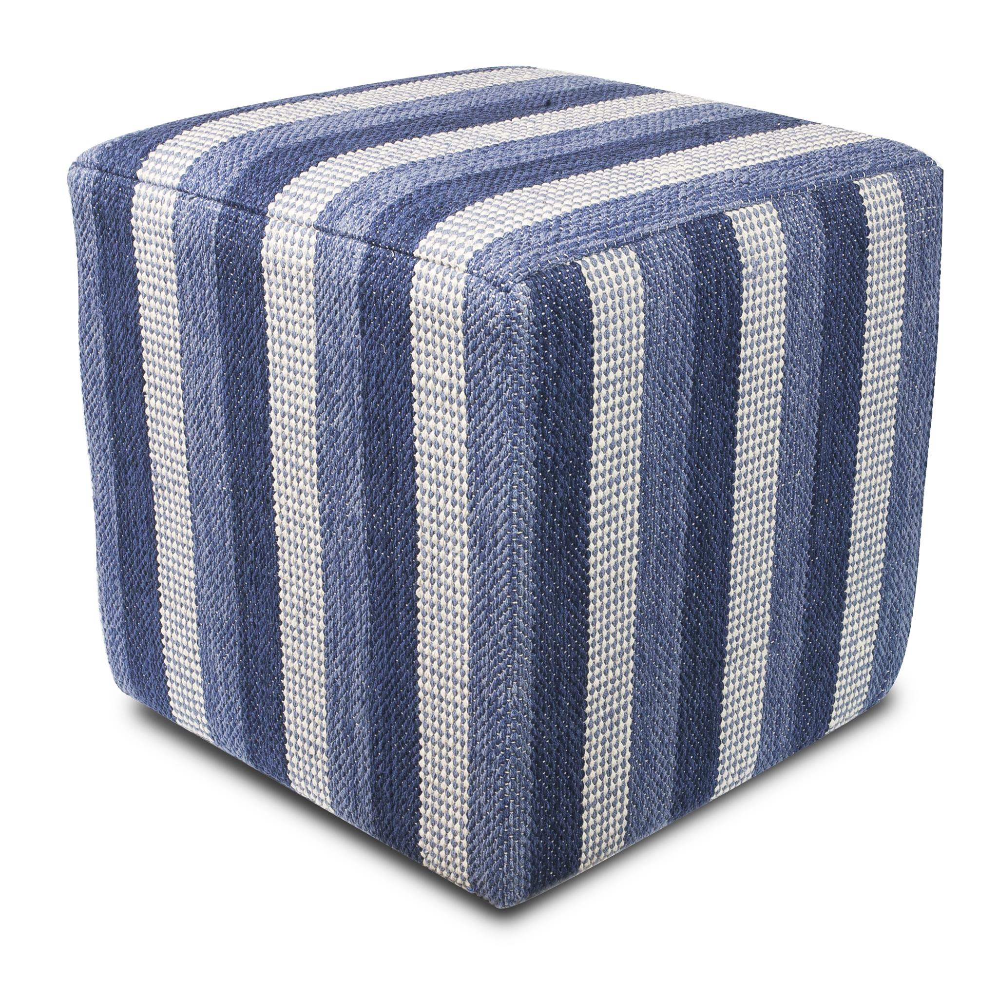 F838 Denim Landscapes Pouf