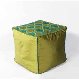 F811 Teal/Green Tribeca Pouf