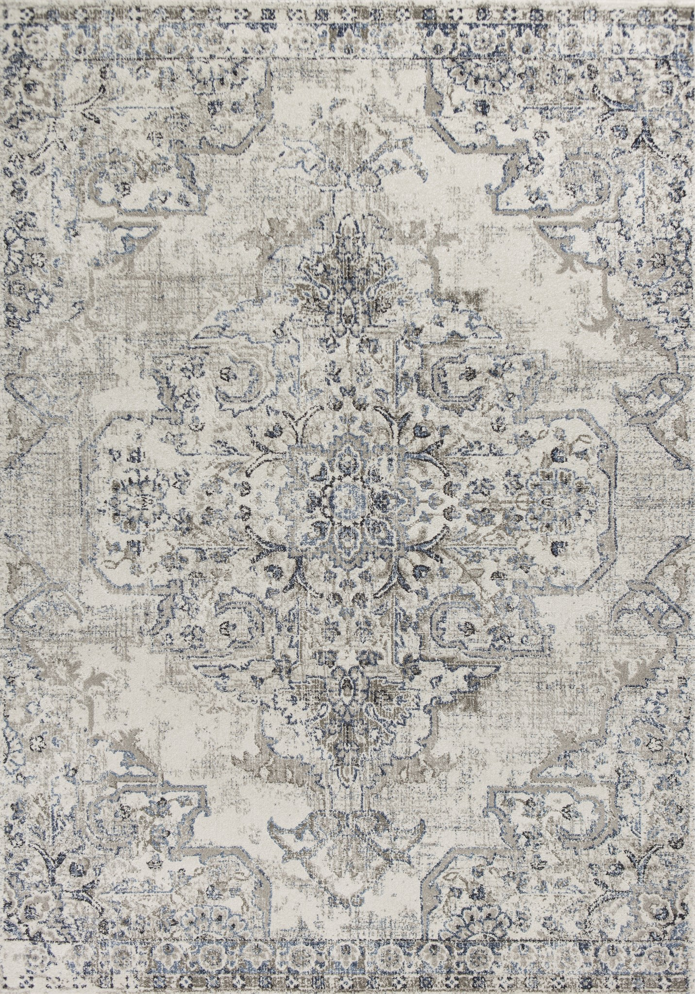 Seville 9471 Ivory/Grey Medallion