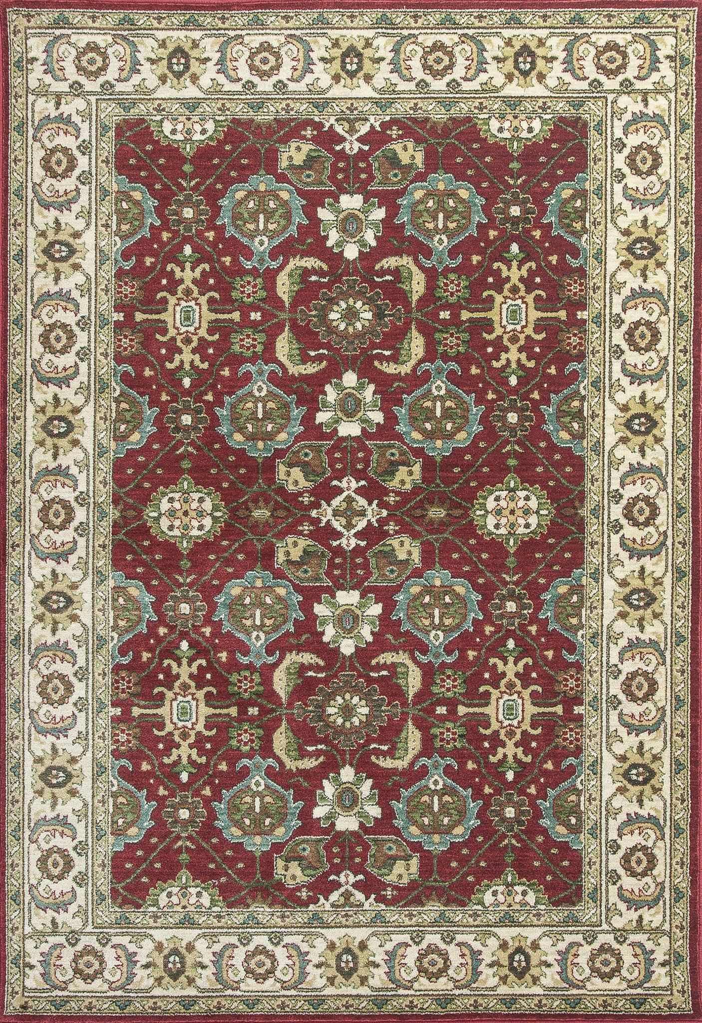 Shiraz 5007 Red/Ivory Mahal