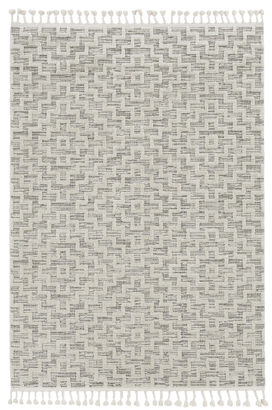 Willow 1104 Ivory Grey Geo