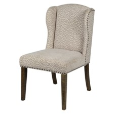SAVANNAH DINING CHAIR-SNOW LEOPARD