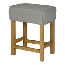 SHORT SADDLE STOOL SLIP COVER-WASHABLE + REVERSIBLE GRAY