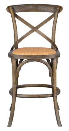 -BENNETT 24IN X-BACK STOOL