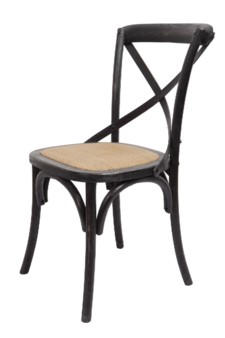 -BRODY X-BACK SIDE CHAIR-BLACK