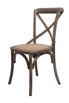 BRODY X-BACK SIDE CHAIR-BROWN