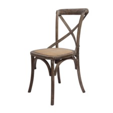 -BRODY X-BACK SIDE CHAIR-BROWN