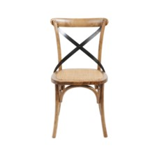 -BRODY X-BACK SIDE CHAIR-MEDIUM BROWN