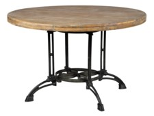 -ROUND & METAL TABLE