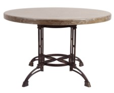 ROUND & METAL TABLE