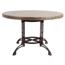 -*ROUND & METAL TABLE