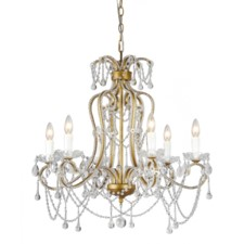 -CHANCERY 6-LT CRYSTAL CHANDELIER