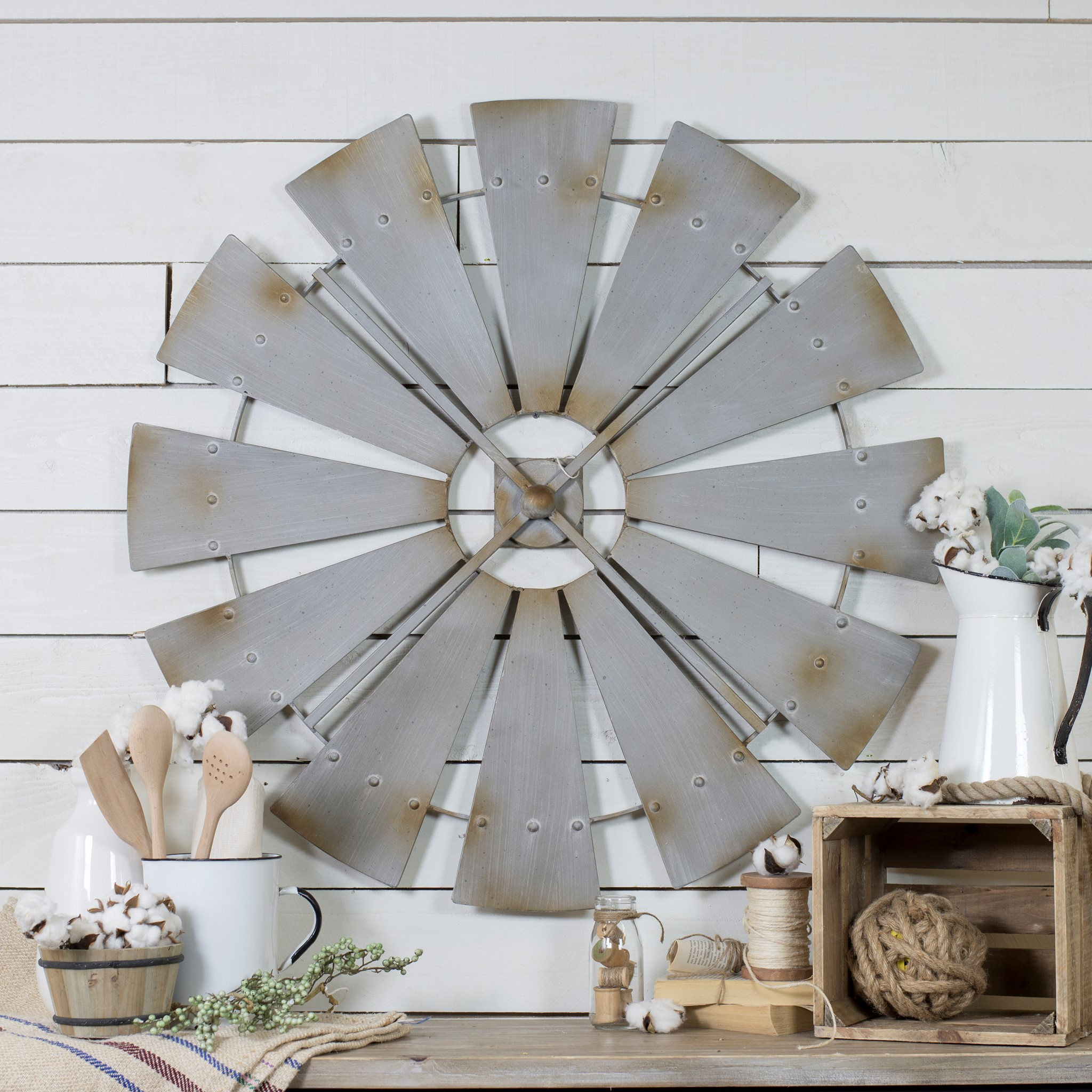Vip international fh1057 farmhouse windmill wall decor amipublicfo Gallery