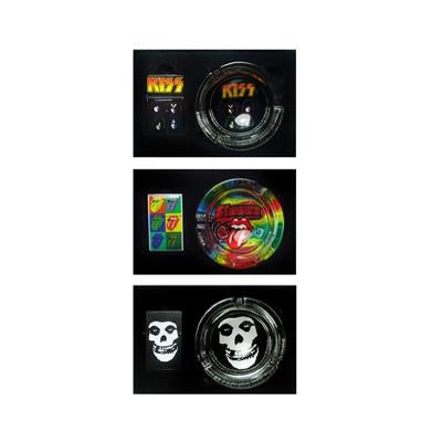 DISC Oil Lighter & Ashtray Rock Bands