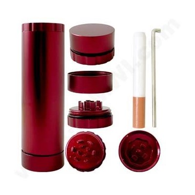 DISC  ALL N 1 Aluminum Container- Red