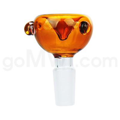 GOG 14mm Male Bowl w/ Tri-Marbles-Amber