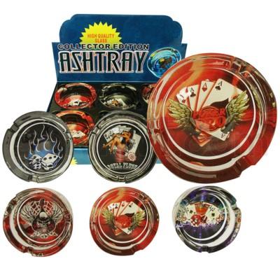 Ashtray Glass Display Dice 6/6/36