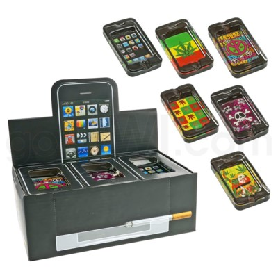 DISC Ashtray Glass Display Iphone Style