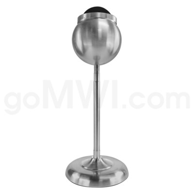 DISC Standing Stainless Steel Iron Ashtray Silver