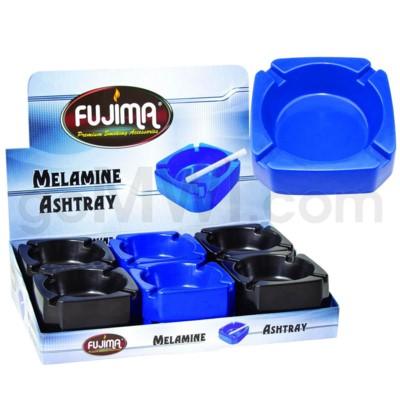 Fujima Square Melamine Ashtray Asst Colors 12PC/BX 20bx/cs