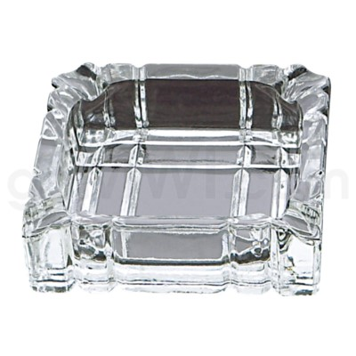 Ashtray Clear Glass Square Shaped 20/cs