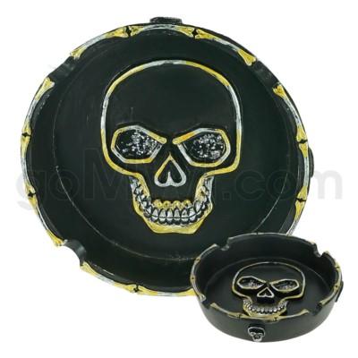 Ashtray Polystone Skull 48/cs