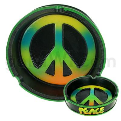 Ashtray Polystone Peace 48/cs