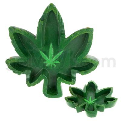 Ashtray Polystone Leaf Shape 24/cs
