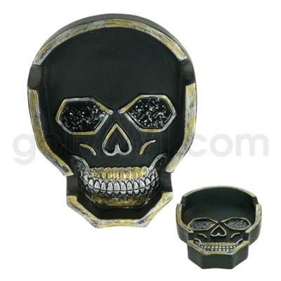 Ashtray Polystone Skull Shape 24/cs
