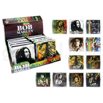 DISC Bob Marley Leather Cigarette Case 12PC/BX
