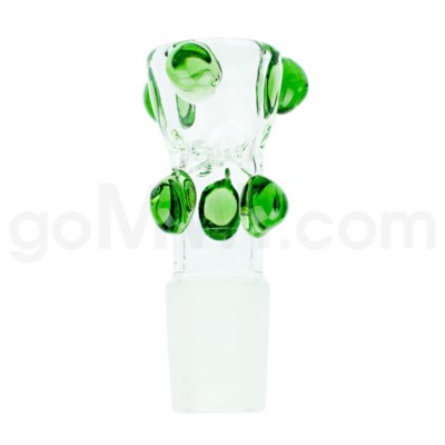 GoG 19mm Bowl Built in Screen Clear w/6 Green Implosions