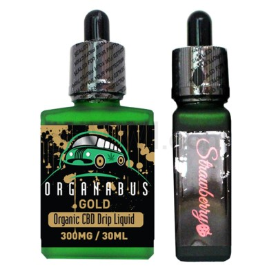 CBD Oil: Organabus Gold 30ml 300mg CBD Strawberry Drip