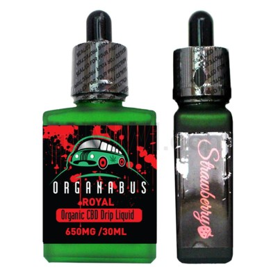 CBD Oil: Organabus Royal 30ml 650mg CBD Strawberry Drip