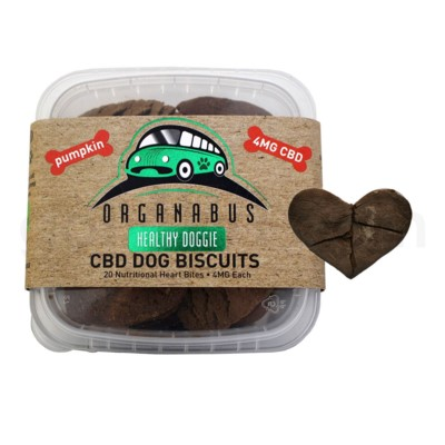 CBD Organabus Pet Dog Biscuits 4mg/ea 20ct - Pumpkin